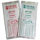 Buffer Solution 4.01 & 7.01 for pH meters. 20ml sachets