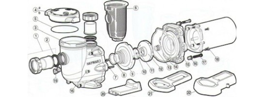 Pump parts -  Hayward