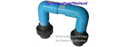 Chlorinator cell maintenance bridges