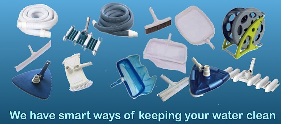 Maintenance tools - we have smart ways of keeping your pool water clean