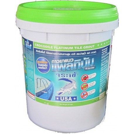 Crocodile Platinum Tile Grout for swimming pools.
